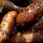 """Grilled sausages"". Licensed under Creative Commons Attribution-Share Alike 3.0 via Wikimedia Commons - http://commons.wikimedia.org/wiki/File:Grilled_sausages.jpg#mediaviewer/File:Grilled_sausages.jpg"
