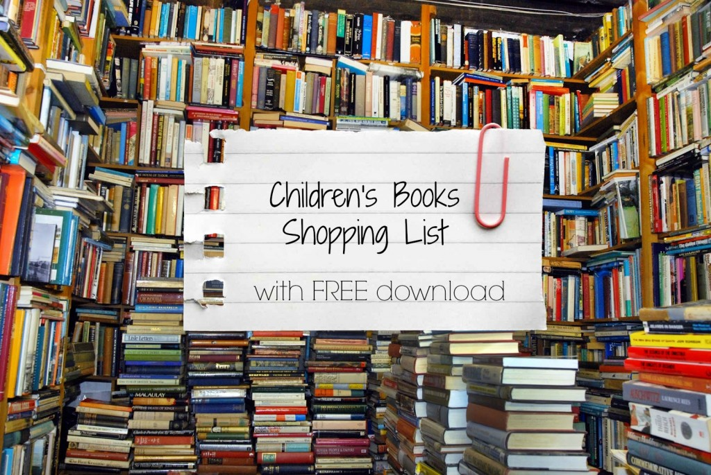 children's books shopping list