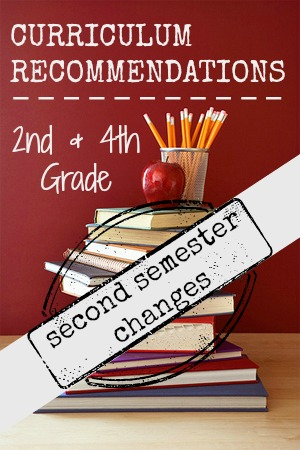 curriculum recommendations second semester